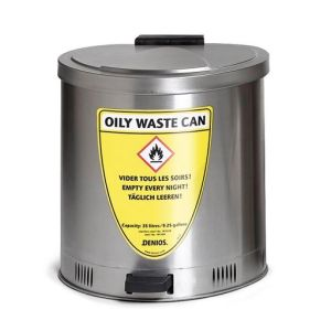 Recipient antifoc colectare lavete uleioas inox 65 litri