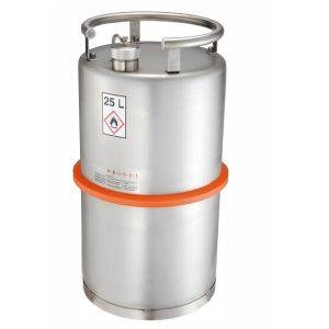 Recipient inox cu capac cu filet 25 l