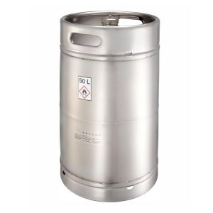 Recipient din inox, capac cu filet, 50 l