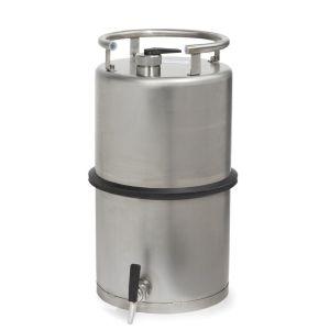 Recipient inox, cu robinet 3/4