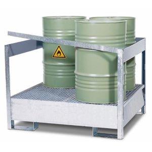 Statie de substante periculoase 4 P2-P din otel zincat cu bara de protectie