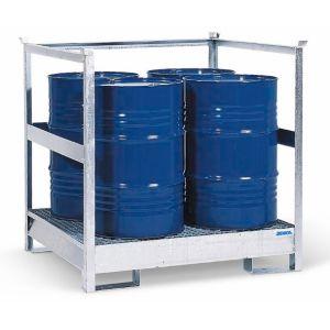 Stație de substanțe periculoase 4 P2-R din oțelzincat  cu bara de protectie