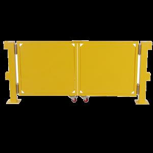 Poarta oscilanta cu roti pentru balustrada