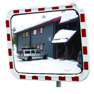 Oglinda trafic cu incalzire policarbonat 40x60cm