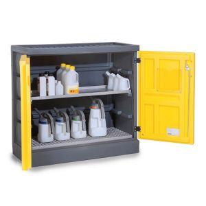 Dulap de depozitare acizi si baze PS 1211-1.1, grilaj inox