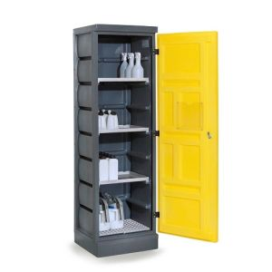 Dulap de depozitare acizi si baze PS 620-3.1, grilaj inox