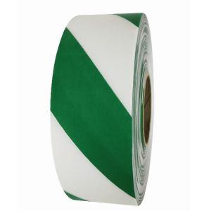 Banda avertizare marcaj podea DuraStripe Supreme V alb-verde