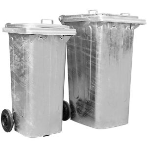 Rezervor antifoc deseuri otel zincat 140 litri