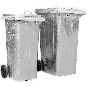 Rezervor antifoc deseuri otel zincat 240 litri