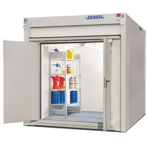 Container antifoc REI90 WFP-X 6, suprafata depozitare 6m², H=2500mm, usa dubla frontala