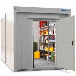 Container antifoc REI90 WFP-X 6, suprafata depozitare 6m², H=2500mm, usa simpla frontala