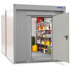 Container antifoc REI90 WFP-X 22, suprafata depozitare 22m², H=2500mm, usa frontala simpla