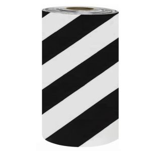 Banda avertizare marcaj podea WalkWay  alb-negru