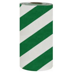 Banda avertizare marcaj podea WalkWay alb-verde